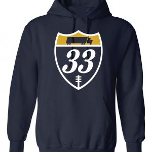 33 Trucking - Josh Adams, Navy, Hoodie