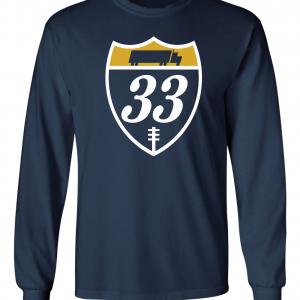 33 Trucking - Josh Adams, Navy, Long-Sleeved
