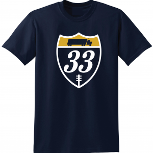 33 Trucking - Josh Adams, Navy, T-Shirt