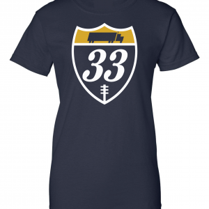 33 Trucking - Josh Adams, Navy, Women's Cut T-Shirt