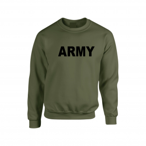 Army, Army Green/Black, Crew Sweatshirt