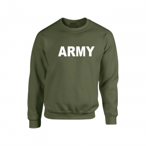 Army, Army Green/White, Crew Sweatshirt