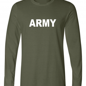 Army, Army Green/White, Long-Sleeved