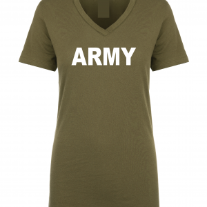 Army, Army Green/White, Women's Cut T-Shirt