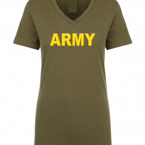 Army, Army Green/Yellow, Women's Cut T-Shirt