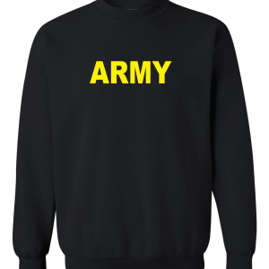Army, Black/Yellow, Crew Sweatshirt