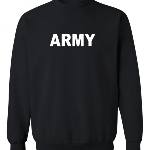 Army, Black/White, Crew Sweatshirt