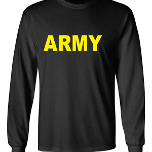 Army, Black/Yellow, Long-Sleeved