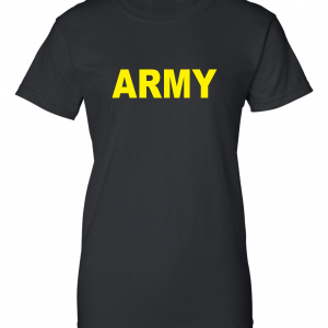Army, Black/Yellow, Women's Cut T-Shirt
