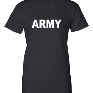 Army, Black/White, Women's Cut T-Shirt