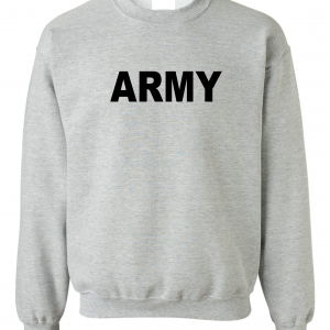 Army, Grey/Black, Crew Sweatshirt