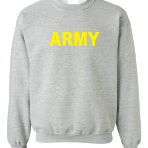 Army, Grey/Yellow, Crew Sweatshirt