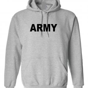 Army, Grey/Black, Hoodie