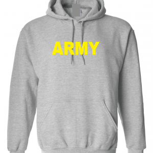 Army, Grey/Yellow, Hoodie