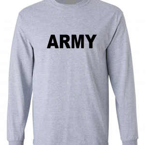 Army, Grey/Black, Long-Sleeved