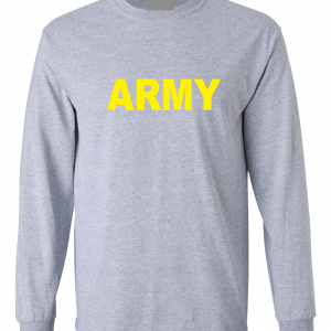 Army, Grey/Yellow, Long-Sleeved