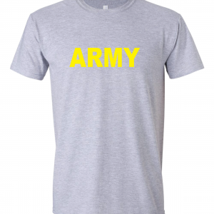 Army, Grey/Yellow, T-Shirt