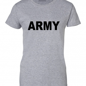Army, Grey/Black, Women's Cut T-Shirt