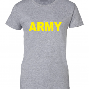 Army, Grey/Yellow, Women's Cut T-Shirt