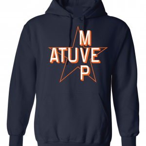 Atuve MVP - Jose Altuve - Houston Astros World Series 2017, Navy, Hoodie