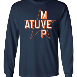 Atuve MVP - Jose Altuve - Houston Astros World Series 2017, Navy, Long-Sleeved
