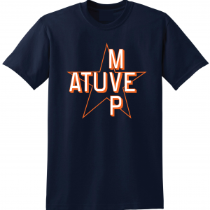 Atuve MVP - Jose Altuve - Houston Astros World Series 2017, Navy, T-Shirt
