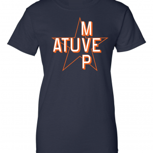 Atuve MVP - Jose Altuve - Houston Astros World Series 2017, Navy, Women's Cut T-Shirt
