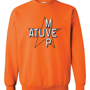 Atuve MVP - Jose Altuve - Houston Astros World Series 2017, Orange, Crew Sweatshirt