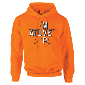 Atuve MVP - Jose Altuve - Houston Astros World Series 2017, Orange, Hoodie