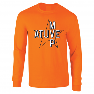 Atuve MVP - Jose Altuve - Houston Astros World Series 2017, Orange, Long-Sleeved