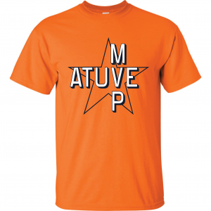 Atuve MVP - Jose Altuve - Houston Astros World Series 2017, Orange, T-Shirt