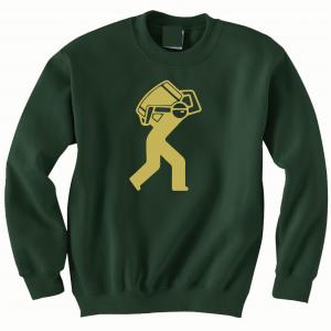 Barrel Worker, Forest Green, Crew Sweatshirt