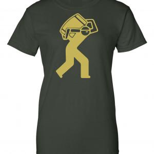 Barrel Worker, Forest Green, Women's Cut T-Shirt