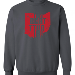 Beat TTUN, Grey, Crew Sweatshirt