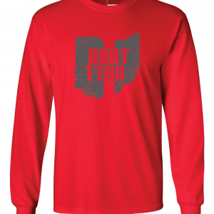 Beat TTUN, Red, Long-Sleeved