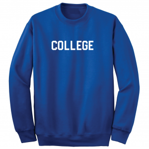 College, Royal/White, Crew Sweatshirt