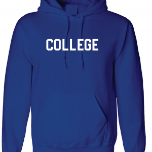 College, Royal Blue/White, Hoodie