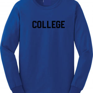 College, Royal Blue/Black, Long-Sleeved