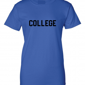 College, Royal Blue/Black, Women's Cut T-Shirt