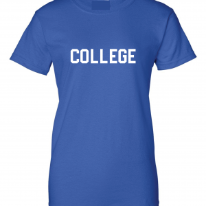 College, Royal/White, Women's Cut T-Shirt