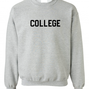 College, Grey/Black, Crew Sweatshirt