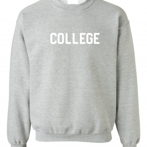 College, Grey/White, Crew Sweatshirt