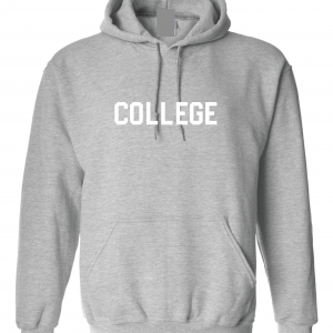 College, Grey/White, Hoodie