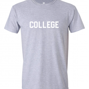 College, Grey/White, T-Shirt