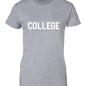 College, Grey/White, Women's Cut T-Shirt