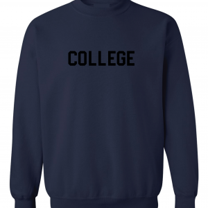 College, Navy/Black, Crew Sweatshirt