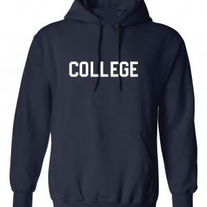 College, Navy/White, Hoodie