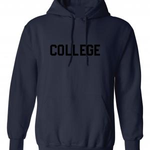 College, Navy/Black, Hoodie