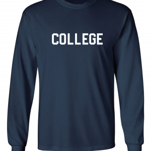 College, Navy/White, Long-Sleeved