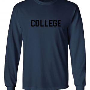 College, Navy/Black, Long-Sleeved